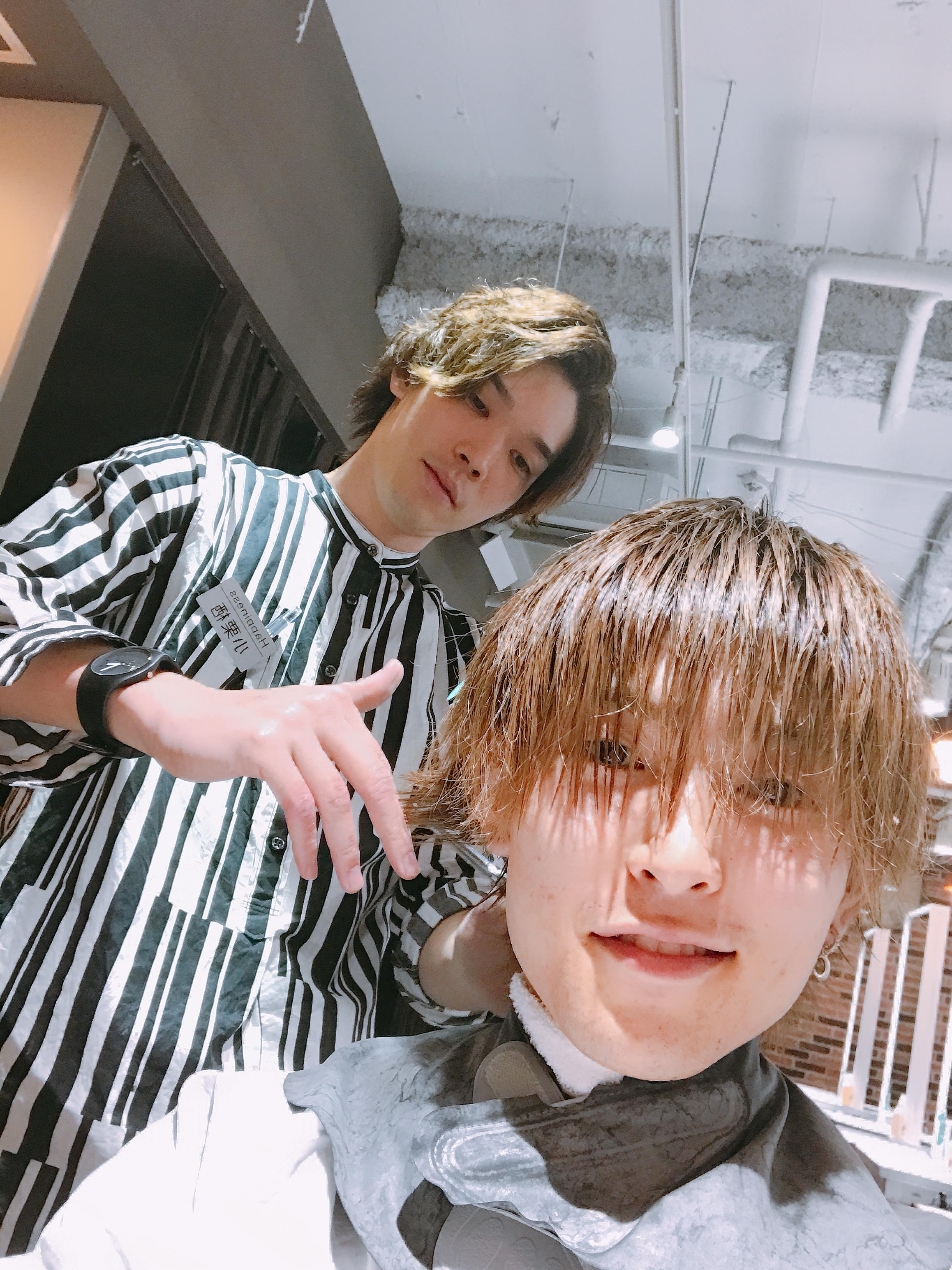 僕は髪の毛をこの方に託してます。